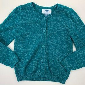 Green & Silver Cardigan Sweater Toddler